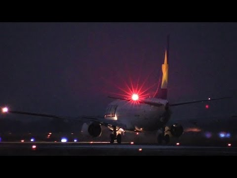 激近離陸!!! Night takeoff Ibaraki Airport Skymark Airlines JA73NR Boeing 737-800