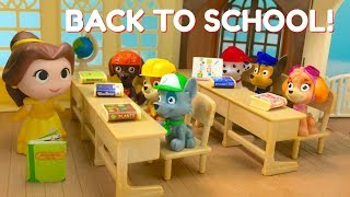 Learn Colors with Paw Patrol Go Back to School First Day Teacher Princess Belle | Fizzy Fun Toys