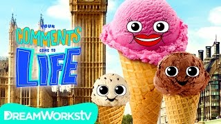 Ice Cream Family Vacation + Funny Food Freak Out! | YOUR COMMENTS COME TO LIFE!