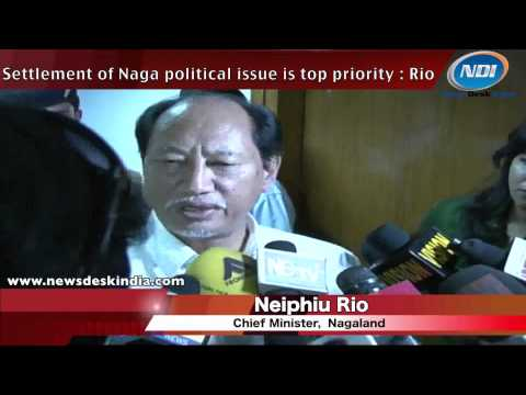 Settlement of Naga Political issue is top priority: Rio