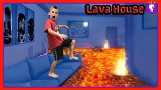 HOUSE IS LAVA In the Dark Challenge!! by HobbyKidsTV