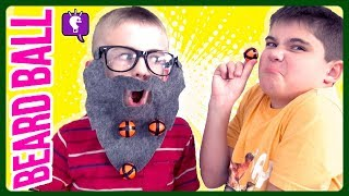BEARD BALL GAME! Can We Catch Them ALL? Family Game Time with HobbyKidsTV