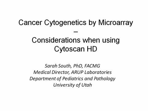 Cancer Cytogenetics By Microarray    Considerations When Using Cytoscan Hd