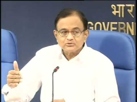 Finance Minister Mr. P Chidambaram addressing the media on revenue matters-6 April 2013