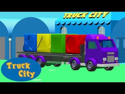 Изучай цвета и формы вместе с грузовиками | Город Грузовиков Мультфильм о грузовичках для детей