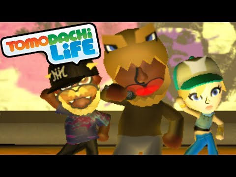 Tomodachi Life: Dino Rap, Slenderman Suit, Concert Hall Gameplay Walkthrough PAR