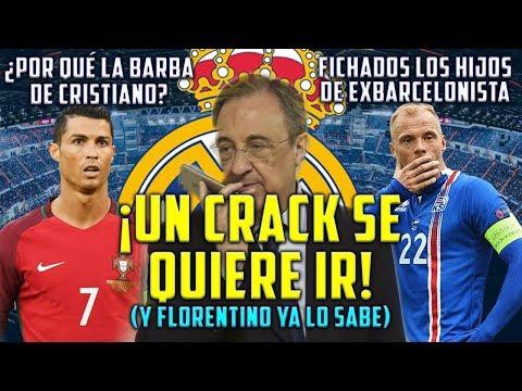 CRACK QUIERE IRSE DEL MADRID   ¿POR QUÉ LA BARBA DE CRISTIANO?   REAL FICHA HIJOS DE EXBARCELONISTA thumbnail