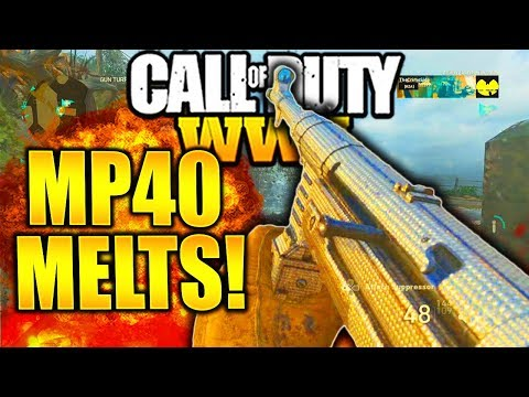 MP40 IS INSANE AFTER LAST PATCH UPDATE BUFFS! CALL OF DUTY WW2 MP40 BEST CLASS SETUP COD WW2!