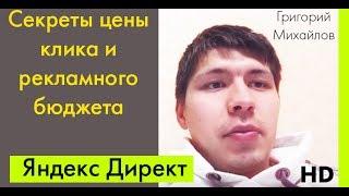 ВИДЕО: Как рассчитать цену клика и бюджет Яндекс Директ. И не сливать бюджет впустую. Часть 1.