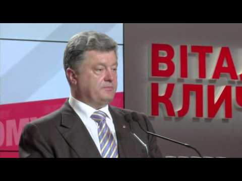 Poroshenko Claims Victory, Wants to Visit East