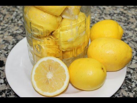 Citron confit au sel --------- طريقة تحضير الليمون المصبر thumbnail