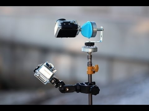 GoPro DIY Pan Tilt Time-lapse Rig Demonstration