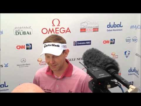 Stephen Gallacher clip after his third round at the 25th Omega Dubai Desert Classic 2014