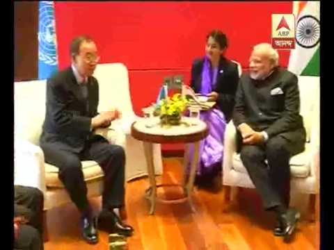 modi meets with Ban ki moon