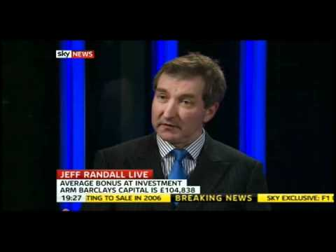 Barclays results - bonuses too high ? Jeff Randall SKY 15 Fenruary 2011
