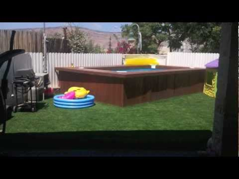 Swimming Pool Deck Intex 58982 Youtube