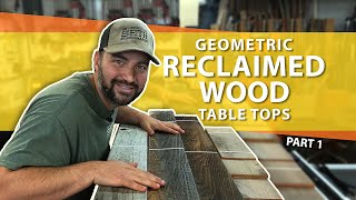 How To Make Awesome Rustic Restaurant Table Tops Using Reclaimed Wood Part 1