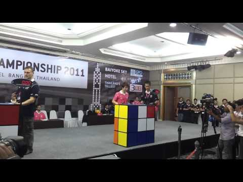 Feliks Zemdegs vs Michal Pleskowicz at World Rubiks Cube Championship 2011 Finals, Bangkok