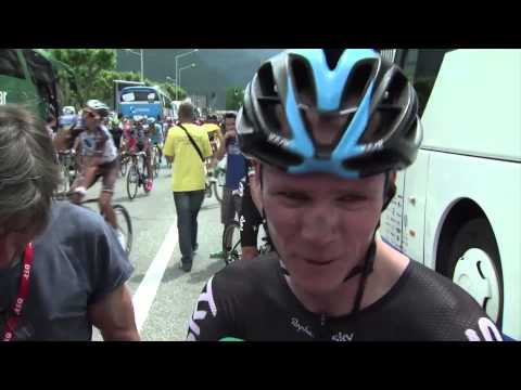 Christopher Froome extremely happy of the win of Peter Kennaugh - Critérium du Dauphiné 2015