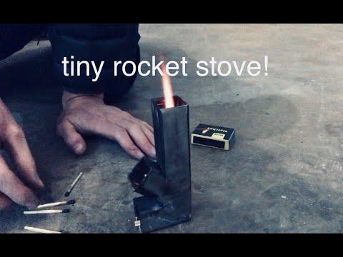 really small rocket stove