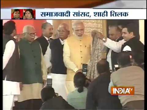 PM Modi blesses Mulayam Singh's grandson