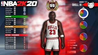 99 OVERALL MICHAEL JORDAN BUILD BROKE NBA 2K20... BEST BUILD IN 2K20