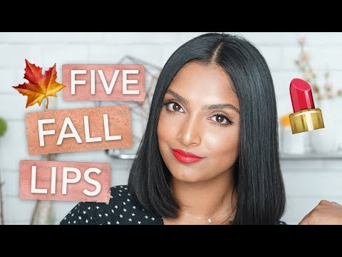 FALL LIPSTICKS FOR BROWN SKIN | DEEPICA MUTYALA
