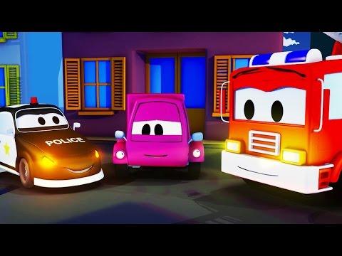 Розовая машинка и Авто Патруль: пожарная машина и полицейская машина | мультик для детей на русском