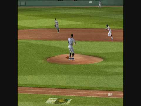 MVP Baseball 2005 Dustin McGowan Scott Rolen 1-5-3 double play Video