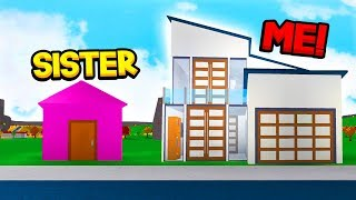 BROTHER Vs SISTER 10 MINUTE BLOXBURG BUILD OFF CHALLENGE!! (Roblox)