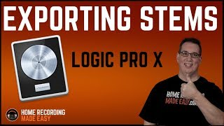 Logic Pro X - Exporting Stems & Sending Session via Dropbox