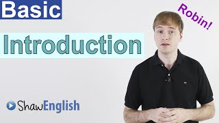 Basic English Introduction, Online Free English Videos