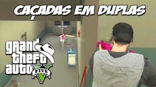 GTA 5 Online (PS4) - As caçadas em duplas: Estratégia e FUGA !