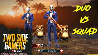 FREE FIRE PLAYING WITH GLOBAL PLAYER , DUO VS SQAUD     RANK RUSH MATCH   GARENA FREEFIRE LIVE