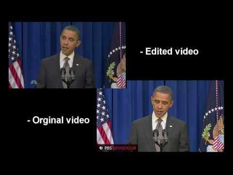 Obama Kicks Door Open [Original Video, Comparison]