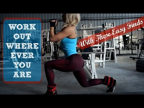 WORK OUT WHERE EVER YOU ARE | With These Easy Finds