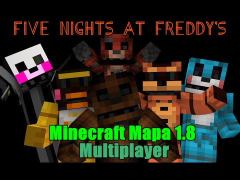 Um presente de NATAL :D FNaF 1 e 2 Multiplayer-Minecraft Map 1.8