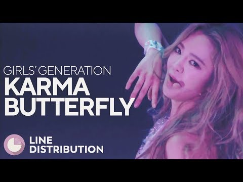 GIRLS' GENERATION - Karma Butterfly (Line Distribution)