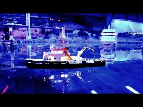 Offshore Activities - micro ships doing crane works at Miniatur Wunderland Hamburg