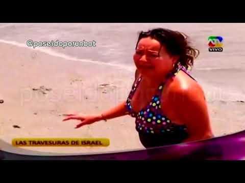 COMBATE: Las Travesuras del Loco Israel en la Playa 25/02/14