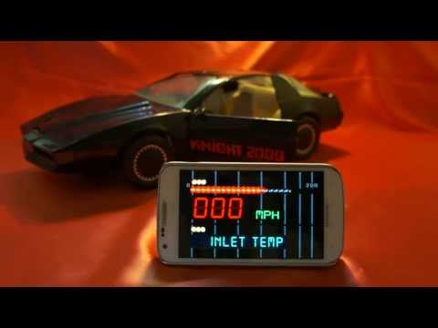 Kitt Knight Rider 2000 Car Michael Knight K.i.t.t. K.a.r.r. Voice Box Cell Phone App video