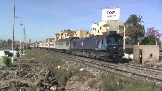 Egyptian Railway Class 66 on passenger trains
