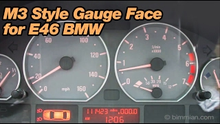 M3 Style Gauge Face for E46 BMW