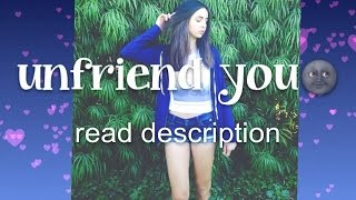 """Unfriend You"" Fan Video 