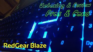 Unboxing and Review | RedGear Blaze MT01 Gaming Keyboard | With Pros & Cons