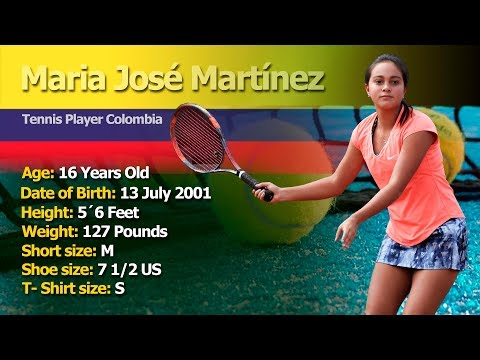 MARIA JOSE MARTINEZ TENNIS PLAYER COLOMBIA FALL 2018