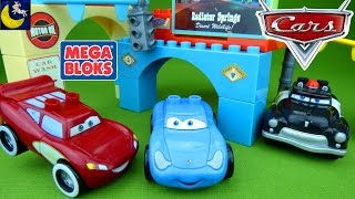 Disney Cars Glow in the Dark Mega Bloks Toys Supercharged Cruising Lightning Mcqueen & Sally Toys!
