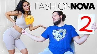 BOYFRIEND RATES MY FASHION NOVA OUTFITS + TRY ON HAUL