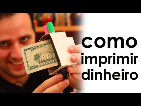 Como imprimir dinheiro - How to print money (magic trick)
