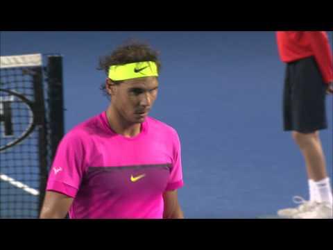 Rafa's mid-match giggles - Australian Open 2015